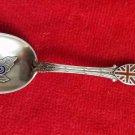 Sterling Silver Coronation Souvenir Spoon with  Enamel in Bowl Edward VII