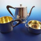 Small Sterling Silver Teapot, Creamer and Sugar Bowl