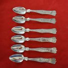 6 Turkish 90% Silver Spoons  (#36)
