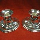 "Modernistic Pair of Candlesticks German Silver 3 1/2"" High (#H91)"