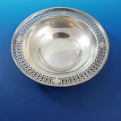 "Sterling Silver Candy Bowl with Cut Out Design around Edge 5 1/2"" Diameter"