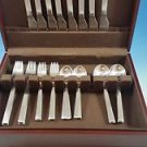 NEVER USED SET OF NEW YORK STAINLESS STEEL BY GEORG JENSEN SERVICE FOR 8