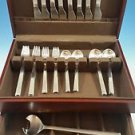 UNUSED SET OF NEW YORK STAINLESS  BY GEORG JENSEN SERVICE FOR 8 W/2 SERVERS