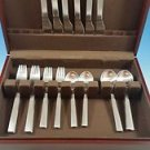 UNUSED SET OF NEW YORK STAINLESS STEEL BY GEORG JENSEN SERVICE FOR 6