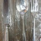 Feather Edge Silverplate / Carrs Sheffield England Knife, Fork & Dessert Spoon