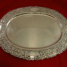 Oval SterlingTray with Floral Border