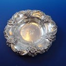 Small Sterling Silver Nut or Candy Dish by Gorham with Floral Design  (H177)