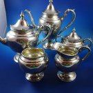 Sterling Silver Five Piece Tea Set Puritan by Gorham