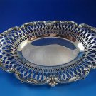 Sterling Silver Applied Boarder & Bread Tray Unknown Maker Good Condition