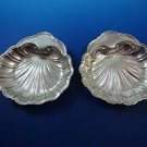 "Pair of Sterling Silver Dishes 5"" in Shell Design  (#1236)"