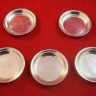 Set of 5 Sterling Silver Butter Pats by George A Henckel (#2411)