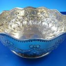 Sterling Silver Hand-Chased Bowl Made in Dublin  Cir. 1886