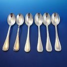 Set of Six (6) Reed & Ribbon Silverplate Place Spoons Sheffield, England (#1192)
