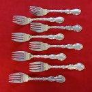 """8 Strasbourg Gorham Sterling Silver Salad Forks 6 3/8"""" Excellent Condition"""
