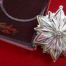 1993 Gorham Annual Sterling Silver Snowflake Ornament in Original Box