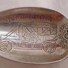 Georgian Towle Sterling HH Engraved Souvenir Spoon w/ Haynes-Apperson Phaeton