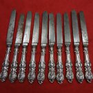 10 Coin Silver Knives with Carbon Steel Blades by Richardson (#2163)