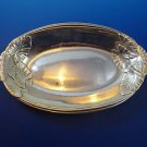 """Sterling Silver by International 9"""" Serving Tray with Leaf Pattern (#1181)"""