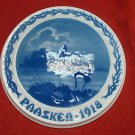 "1918 Bing & Grondahl Easter Paasken Plaque ""Stork"""