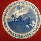 "1923 Bing & Grondahl Easter Paasken Plaque ""Man Plowing"""