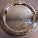 Pair of Silverplate Round Trays with Gadroon Borders by Wm Rogers