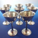 8 Sterling Silver by International Small Wine Goblets