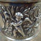 Vintage Silverplate Wide Napkin Ring with Cherubs  (#332)
