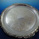 Silver Plated Footed Tray in Baroque Pattern by Wallace