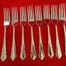 8 DuBarry Sheffield English Stainless Steel Dinner Forks
