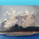 Siam Siamese Bangkok Sterling Silver Trinket / Cigarette Box with Dancers  #1072