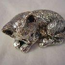 Sterling Silver 925 Sleeping Kitten Figurine  (#248)