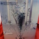 International Silverplate Vase and Candle Holder