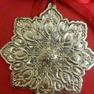 1994 Towle Sterling Silver Old Master Snowflake Ornament  (2552)