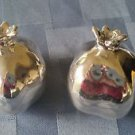 Sterling Silver 925 Pair of Pomegranate Figurines  (#314)