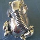 Adorable Sterling Silver 925 Sitting Baby Elephant Figurine  (#284)