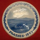 "1925 Bing & Grondahl Easter Paasken Plaque ""Sheep on Meadow"""