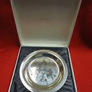 Sterling Silver Plate with Cardinals by National Audubon Society