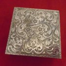 Beautiful & Unusual Silver Brite Cut Compact  (#571)