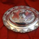 Silverplate Covered Vegetable Dish with Grape Motif