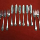 English Silverplate Fish Knives and Fish Forks ( 6 of each)