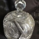 "Beautiful Vintage Cut Glass Cheese Dome 7"" high"