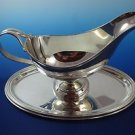Sterling Silver 925 Beautiful Gravy Boat and Underplate