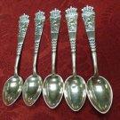 Set of 5 Danish Silver (826+) Demitasse Spoons by Chrisitan Heise (#2001)
