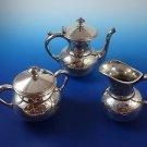 3-Piece Silver Plate Sugar Bowl, Creamer & Tea Pot by Meriden Co.