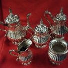 BEAUTIFUL VINTAGE SILVERPLATE TEA SET 5 PIECE BY ROGERS, SMITH & CO.