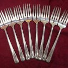"8 Salad Forks Forks Milady Silverplate Community Oneida 6 1/2"""