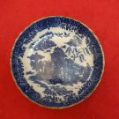"Pair of Blue & White Dishes with Chinese ? Design on Bowl 5 "" across (#H57)"