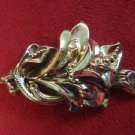 Beautiful Victorian Floral Gold Filled Pin with Flower Bouquet  (#479)