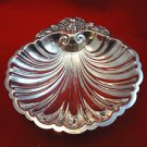 Silverplate Shell Bowl with Fruit and Grapes on Edge