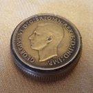 Silver Snuff Box - Great Britain George VI English Penny 1945 (#CB45)